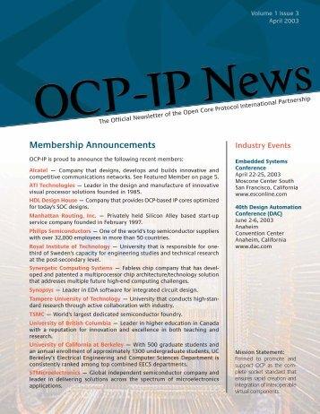 Volume 1 Issue 3 - OCP-IP