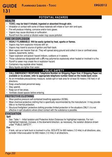 ERG 2012 - Guide 131 - CAMEO Chemicals