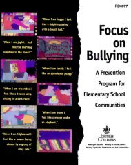 Focus on Bullying: A Prevention Program for Elementary - Education