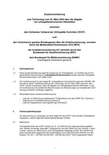 Zusatzvereinbarung zum Tarifvertrag vom 25. März 2002 über die ...