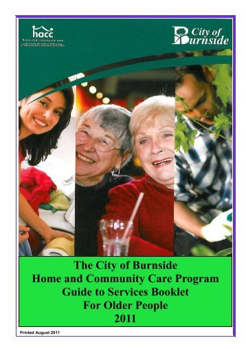 Guide to Services Booklet 2011 FINAL - City of Burnside