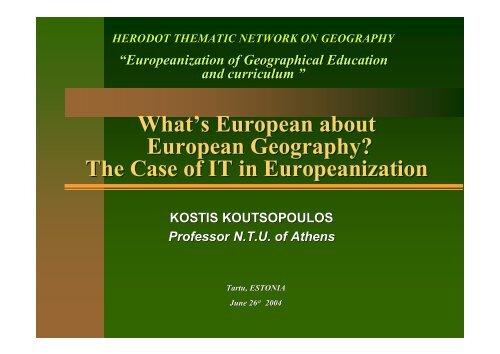 Διαφάνεια 1 - HERODOT Network for Geography in Higher Education