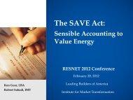 The SAVE Act: Sensible Accounting to Value Energy - Bibca