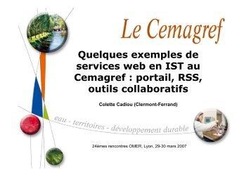 Exemples de services web au Cemagref