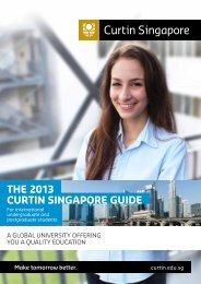Download the International Student Guide 2013 - Curtin Singapore
