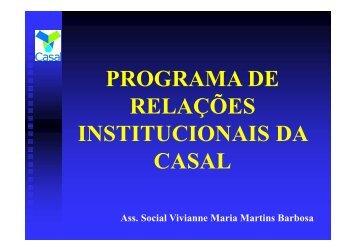Programa de Relações Institucionais - Sabesp