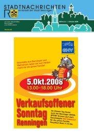 Mittwoch, 1. Oktober 2008 Woche 40 - Stadt Renningen