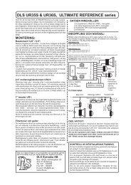 DLS UR35S & UR36S, ULTIMATE REFERENCE series