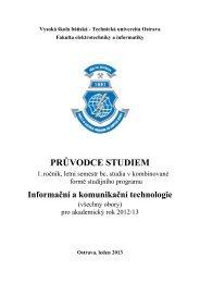 PRÅ®VODCE STUDIEM - Katedra informatiky FEI VÅB-TUO
