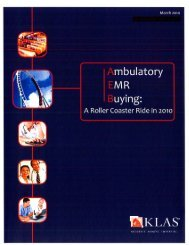Ambulatory EMR Buying - Lancaster General