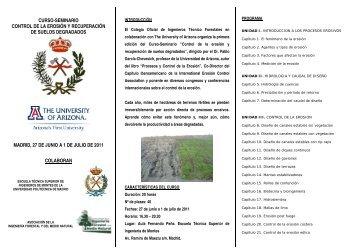 CURSO-SEMINARIO CONTROL DE LA EROSIÓN Y ... - redforesta