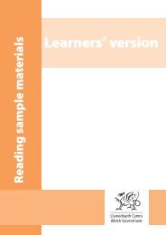 Learners' version: Years 4-6 - Learning Wales