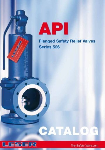 Safety valves according to API standard type 526 - Leser.ru