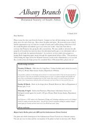 Newsletter Mar 2010 - Botanical Society of South Africa