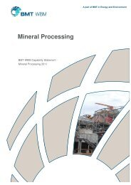 Capability Statement - Mineral Processing - BMT Group