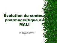 Évolution du secteur pharmaceutique au MALI - ReMeD