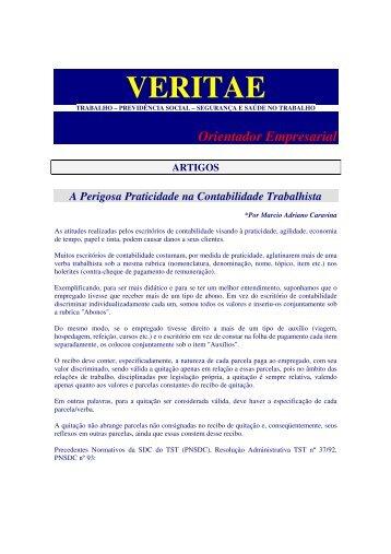 Orientador Empresarial ARTIGOS A Perigosa Praticidade ... - Veritae