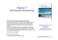Chapter 7 Multimedia Networking - Tolstenko