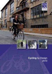 Cycling by Design 2010 - Transport Scotland