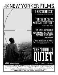 TOWN IS QUIET.flyer - New Yorker Films