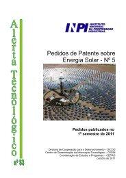 Energia Solar - 1º semestre de 2011 - Inpi