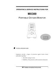 MX300 Portable Oxygen Monitor - Teledyne Analytical Instruments