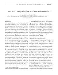 Los cultivos transgénicos y las sociedades latinoamericanas