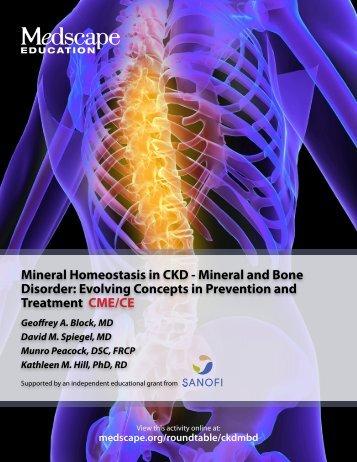 Mineral Homeostasis in CKD - Mineral and Bone Disorder - Medscape