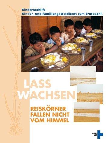 Lass wachsen – Reiskörner fallen nicht vom Himmel - Kindernothilfe