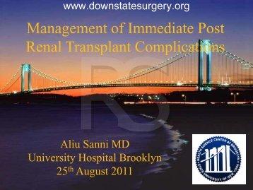 Urologic complications