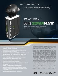 Holophone H4-Mini Spec Sheet - Advanced Audio