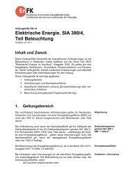 EN-12 Elektrische Energie, SIA 380/4, Beleuchtung - ENDK ...