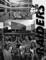 Introduction - Wright State Raider Athletics