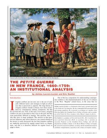 Petite Guerre - Revue militaire canadienne