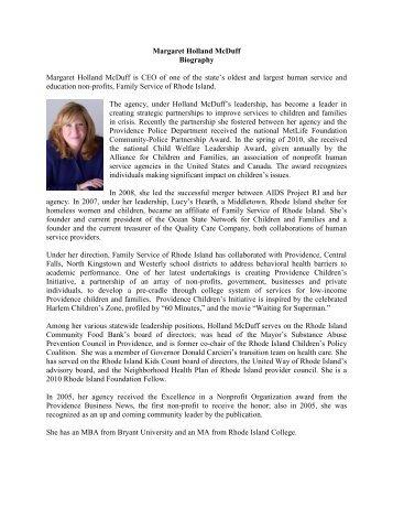 Margaret Holland McDuff Biography Margaret Holland McDuff is ...