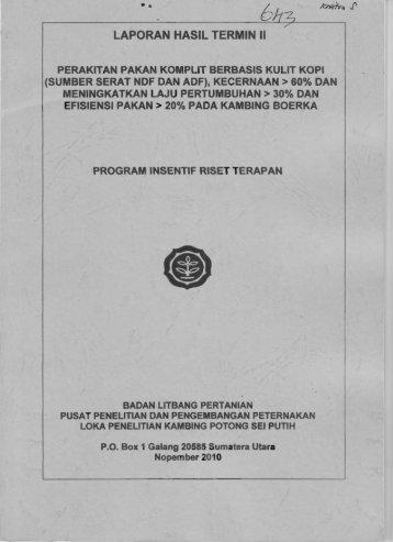 LAPORAN HASIL TERMIN II - KM Ristek