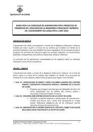 bases per a la concessió de subvencions per a projectes de ...