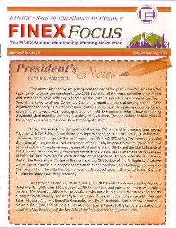 Full page photo - FINEX