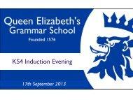 Staff Development Day Briefing Session - Queen Elizabeth's ...