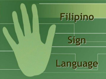 Filipino Sign Language - Philippine Culture
