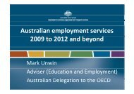 Australian employment services 2009 to 2012 and beyond - Cirac