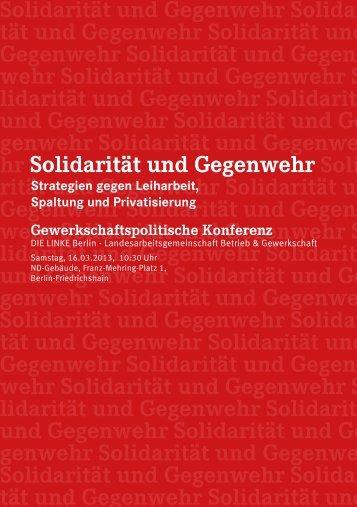 PDL_Gewerkschaftskonferenz 2013 Berlin – Einladung
