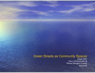 Green Streets as Community Spaces