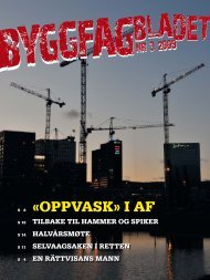 Byggfagbladet 3 2009 - Tømrer og Byggfagforeningen