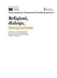 """Vademecum """"Religioni, dialogo, integrazione"""" - Ministero Dell'Interno"""