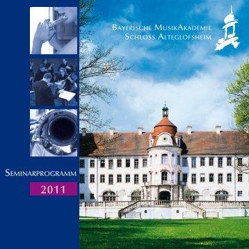2011 - Musikakademie Alteglofsheim