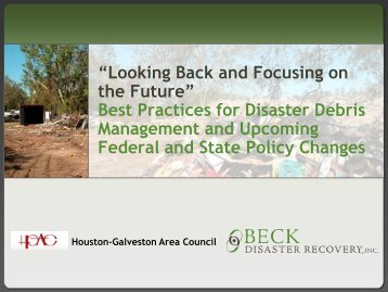 Looking Back and Focusing on the Future - Houston-Galveston Area ...