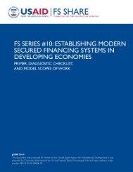 FS Series 10_Secured Financing.pdf - Economic Growth - usaid