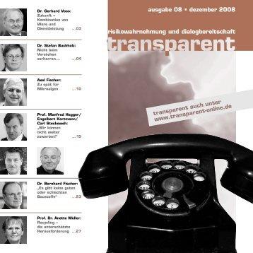 laden Sie sich die komplette Ausgabe als PDF hier ... - transparent
