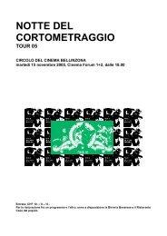 Programma dettagliato in pdf - Circolo del Cinema di Bellinzona